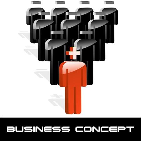 global networking: Concepto de negocio. Ilustraci�n vectorial.