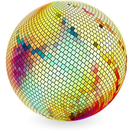 Multicolored globe illustration.   Vector