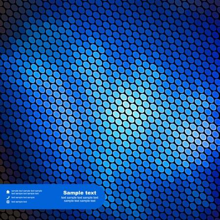 bright idea: Blue abstract light background.  Illustration