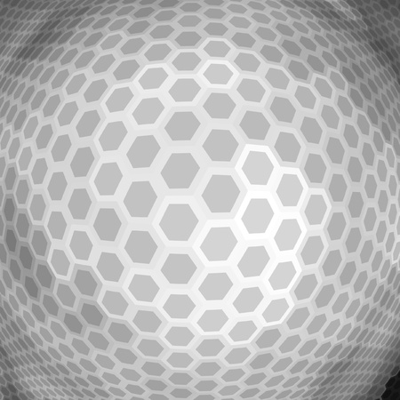 globe grid: Abstract hexagon mosaic.