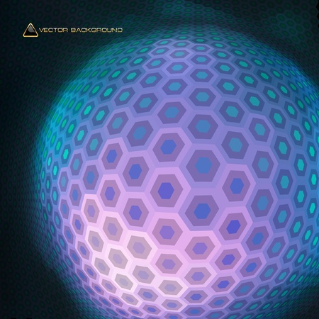 Abstract hexagon mosaic. Stock Vector - 9039253