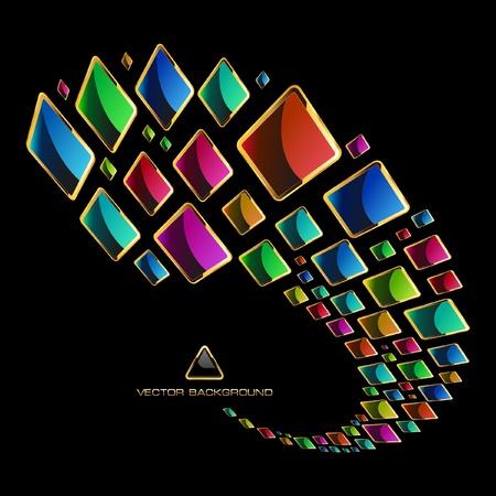 Fondo abstracto multicolor.
