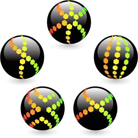 Multicolored globe illustration. Stock Vector - 9039136
