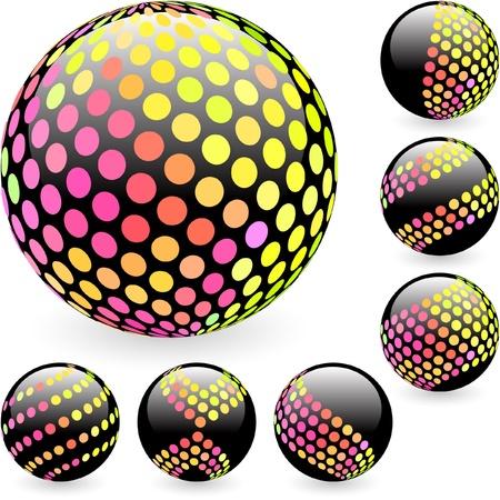 Multicolored globe illustration. Stock Vector - 9039175