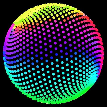 torsion: Multicolored globe illustration.