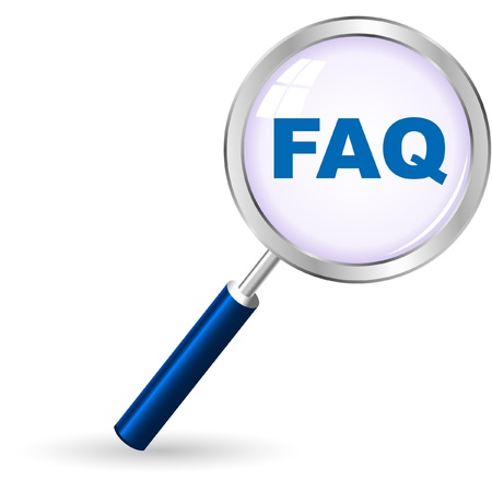 FAQ. Icon for web. Vector