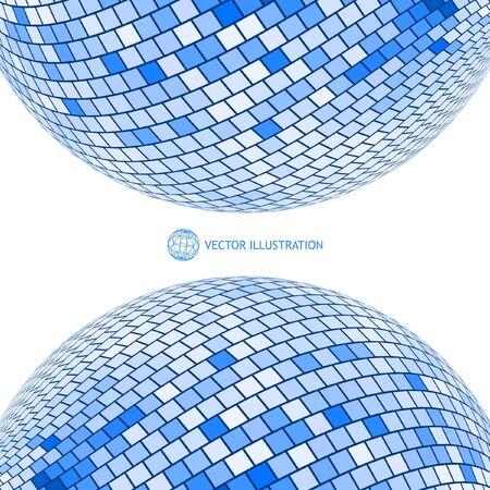 Globe illustration. Illustration