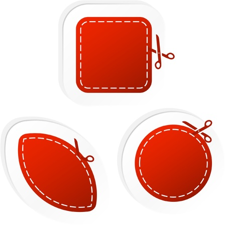 Sticker set for sale. Stock Vector - 9039125