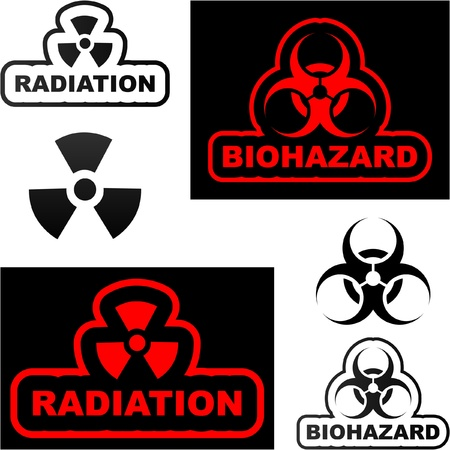 Biohazard sign. Vector illustration.   Stock Vector - 9039130