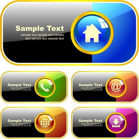 telecomunicaci�n: Banner de web. Vectores