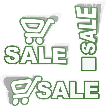 SALE. Shopping cart. Vector illustration. Stock Vector - 9039180