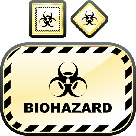 ejaculation: Biohazard sign. Vector illustration.