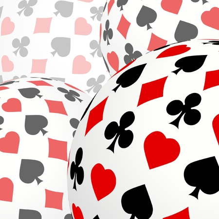 gambling composition. Abstract background.   Vector