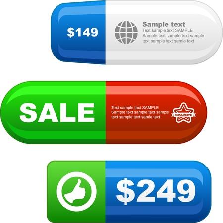 procent: Various sale design elements