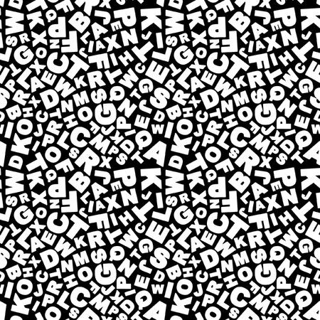 scrawl: Sullo sfondo di alfabeto senza soluzione di continuit�. Modello di vettore.   Vettoriali