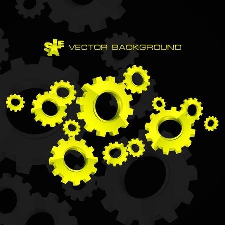 sprocket: Vector gear background. Illustrazione astratta.