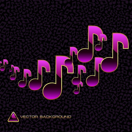 Vector abstract background with note mix.   Vector