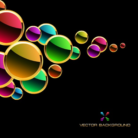 decorate element: Colorful abstract background.