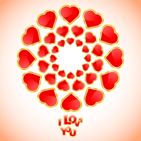 Love message. Vector illustration. Stock Vector - 9039202