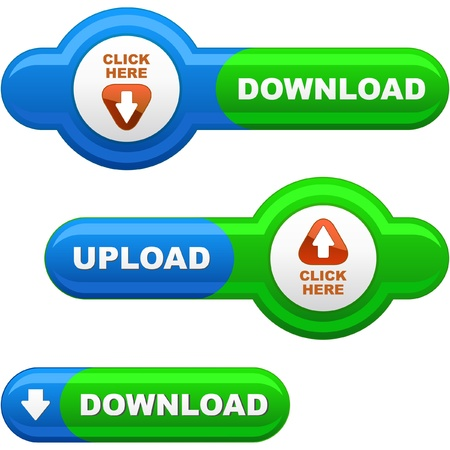 Download button set. Vector