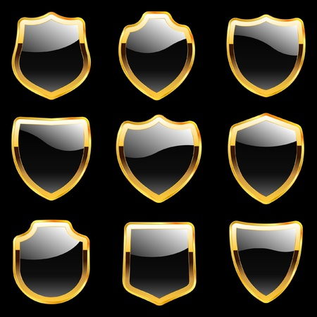 Shield collection. Vector