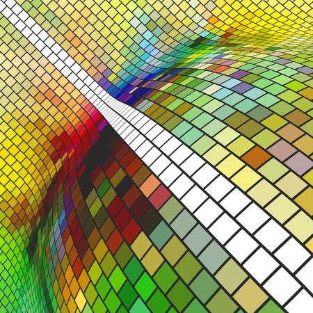 mixed colors: Abstract mosaic background. Vector illustration.