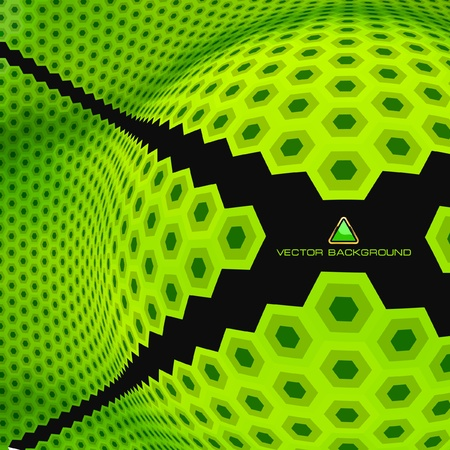 Abstract hexagon mosaic.   Vector