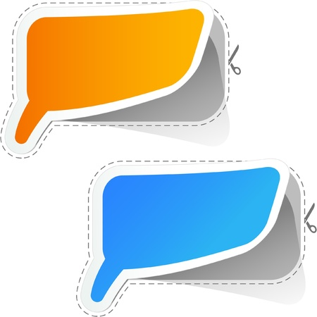 feedback link: Speech bubbles. Vector sticker set. Illustration