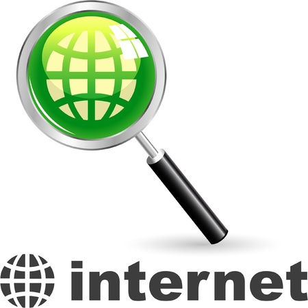 geodesy: INTERNET. Vector icon.