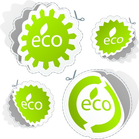 ECO sticker set. Illustration