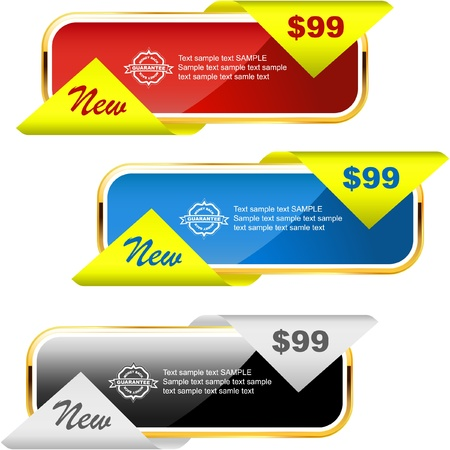 procent: Vector set of sale banner   Illustration