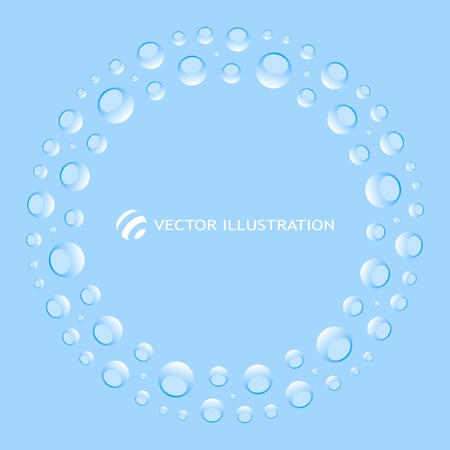 Blue abstract light frame. Vector