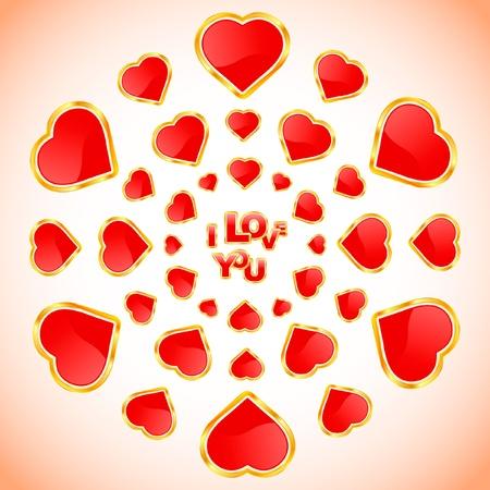 amur: Love message. Vector illustration.