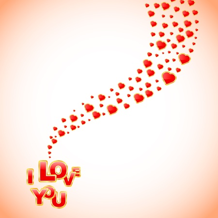 I love you. Love message.    Vector
