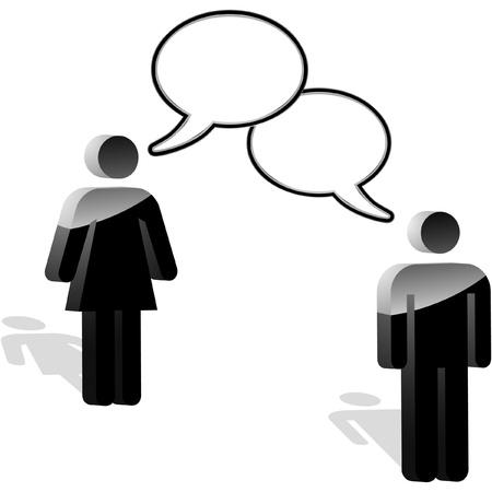 individui: Concetto di business del discorso. Illustrazione vettoriale.   Vettoriali