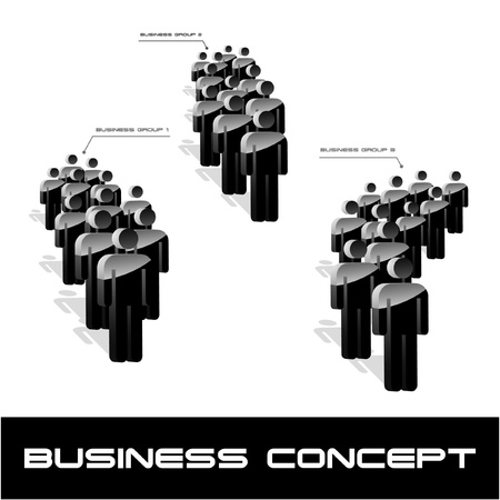 people discuss: Network concept. Vector illustration.