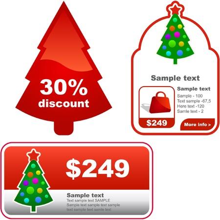 promo: Set di banner di Capodanno per la pubblicit�