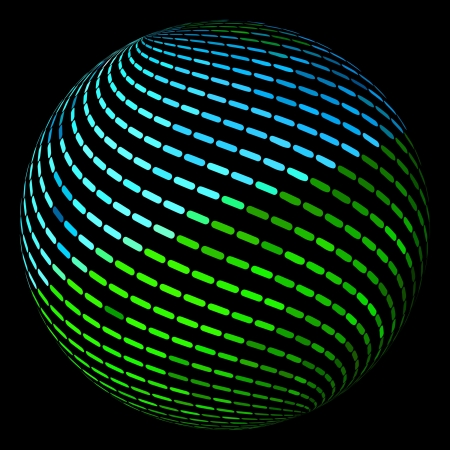 globe grid: Globe. Vector illustration.