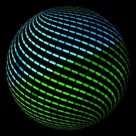orb: Globe. Vector illustration.