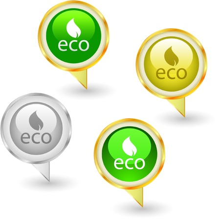 ECO. Vector illustration. Stock Vector - 8947608