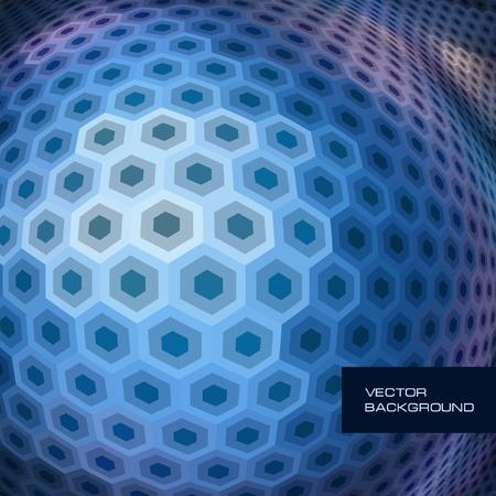 Abstract hexagon mosaic. Stock Vector - 8947777