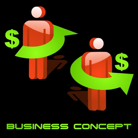 Business concept. Vector illustration. Stock Vector - 8946456