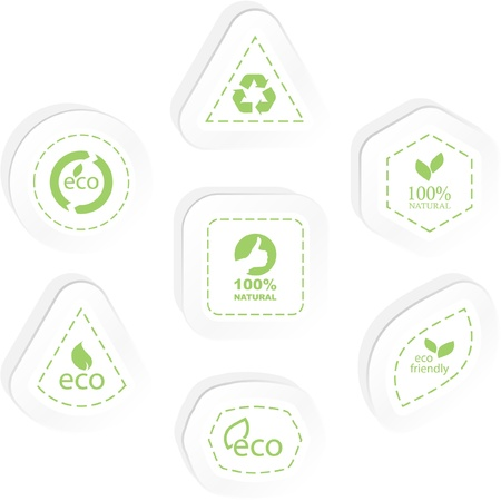 Set of eco friendly, natural and organic labels. Stock Vector - 8947610