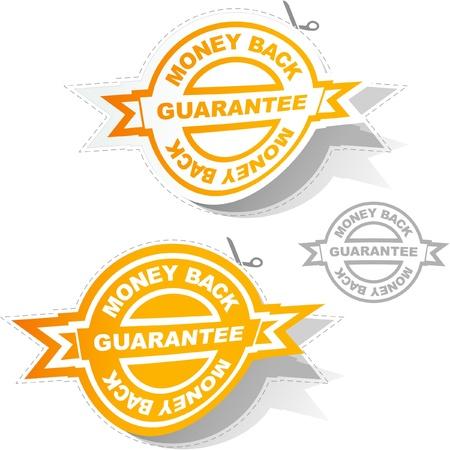 guaranree: Vector guarantee sticker set.