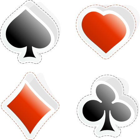 Card suits. Vector set. Stock Vector - 8947621
