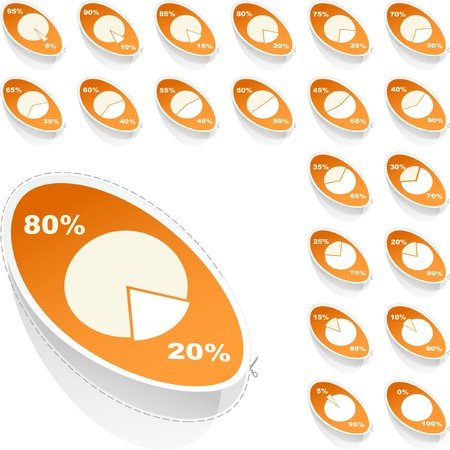 Business statistics vector. Diagram set. Stock Vector - 8947855