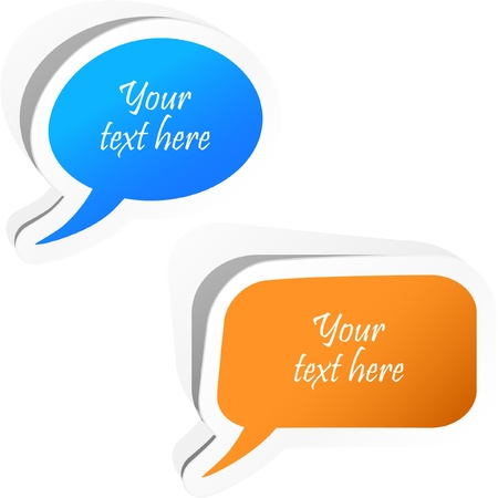 feedback link: Speech bubble buttons.