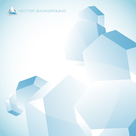Abstract hexagon background.   Vector