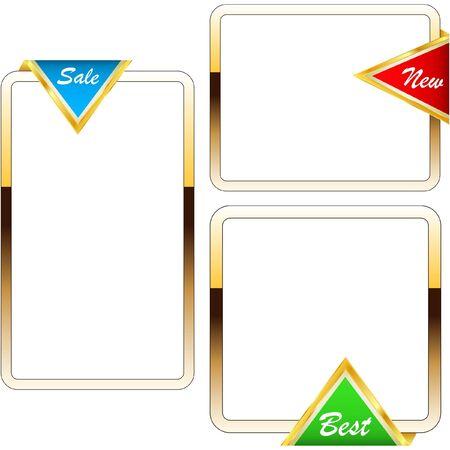 Set of design frames for sale. Stock Vector - 8947574