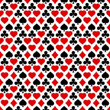 cartas de poker: Fondo transparente con trajes de la tarjeta.